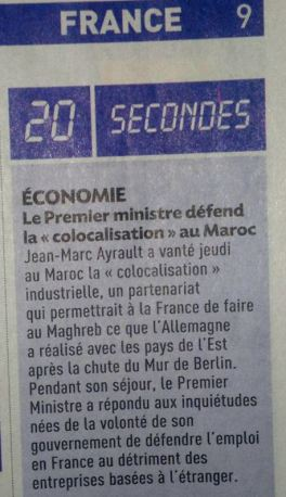 ayrault colocalisation maroc 20 minutes