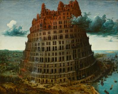 Pieter BRUEGHEL l'Ancien - la Tour de Babel (la petite) (Rotterdam)