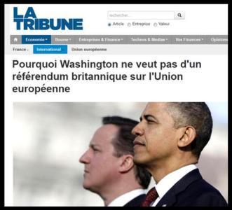 Washington ne veut pas de référendum sur l'UE
