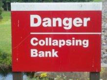collapsing bank