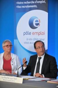 hollande mensonge chomage