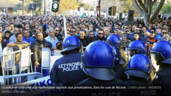 crise politique à Chypre, au bord de la faillite