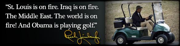 image obama joue au golf
