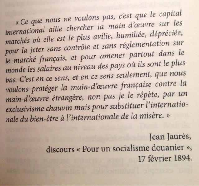 jean jaures pour un socialisme douanier