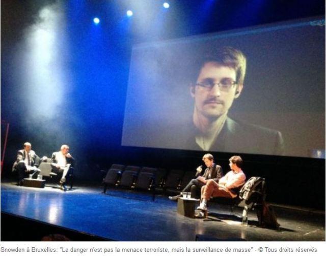 Snowden le danger n'est pas la menace terroriste mais la surveillance de masse