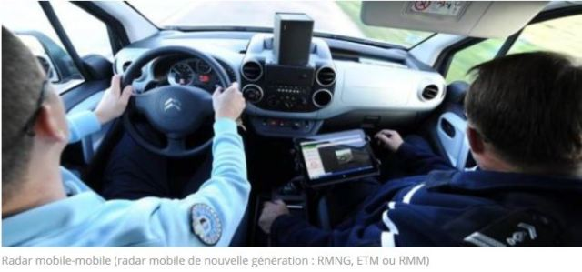 police n'a plus les moyens d'acheter des voitures sauf des radars mobiles