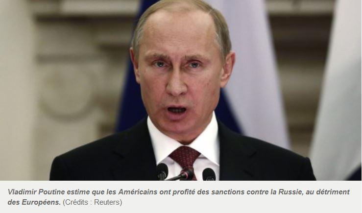 Poutine surpris que le commerce russe profite aux Etats-Unis et non à l'Europe