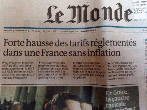 france hausse des prix mais aucune inflation