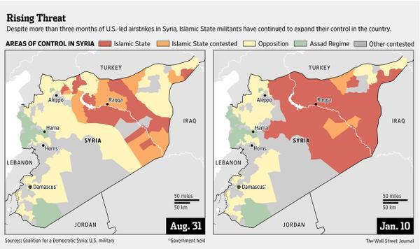 l'Etat Islamique a multiplié par trois son territoire