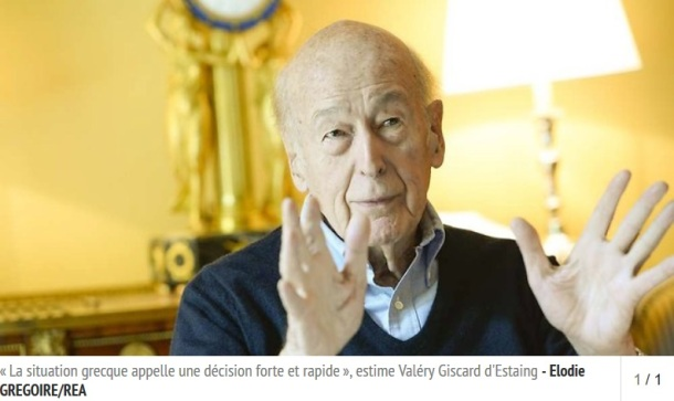 Giscard La Grèce doit sortir de l'euro