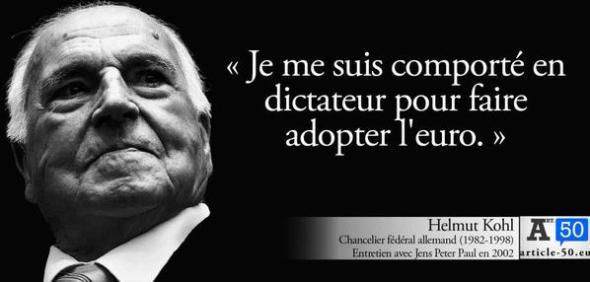 kohl dictateur pour euro