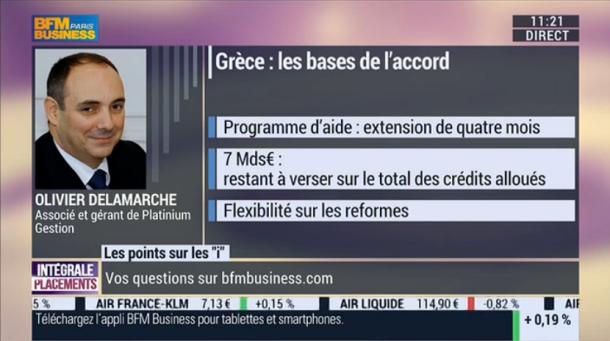 Olivier Delamarche sur BFM Business 23 fevrier 2015