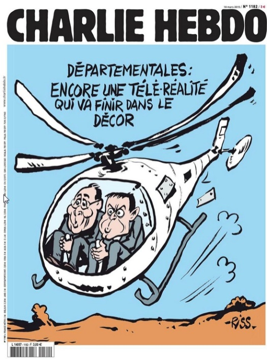Départementales...dans le décor - Charlie Hebdo N°1182 - 18 mars 2015