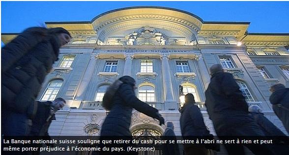 En Suisse aussi les clients vident leur compte en banque
