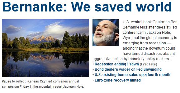 deflation bernanke we saved world