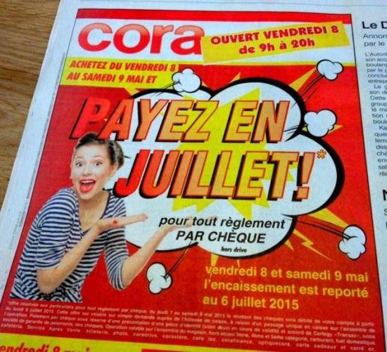 paiement juillet cora