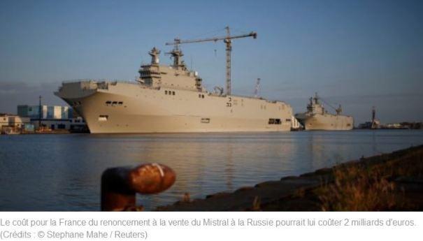La rupture de la vente des Mistral pourrait coûter 2 milliards d'euros à la France