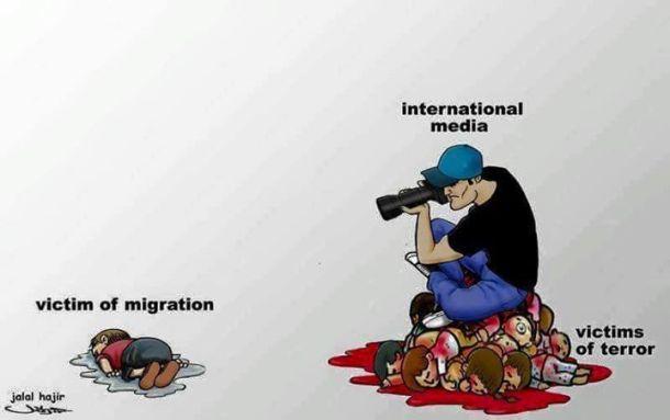 migrants manipulation medias