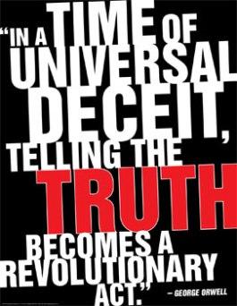 orwell telling truth revolutionary act