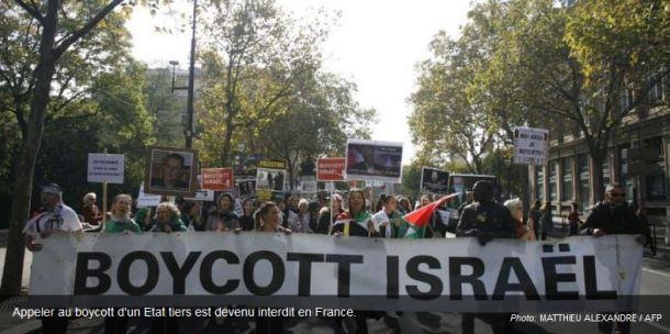 boycott produits Israel interdit en France