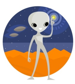 extraterrestre alien en marte