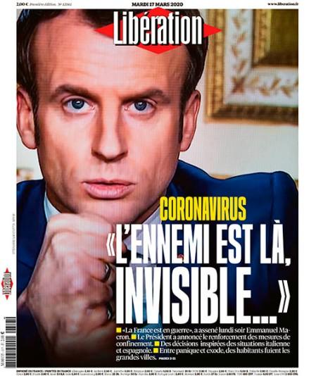 News au 28 avril 2020 Liberation_2020_03_17_ennemi_invisible